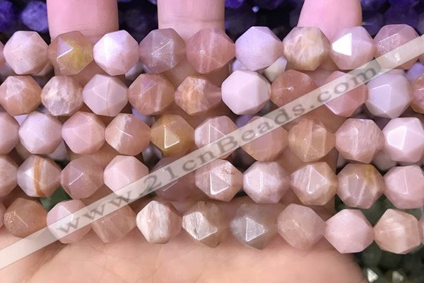 CNG8744 15.5 inches 12mm faceted nuggets moonstone gemstone beads