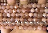 CNG8753 15.5 inches 8mm faceted nuggets moonstone beads wholesale