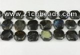 CNG8824 15.5 inches 16mm - 20mm faceted freeform labradorite beads