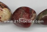 CNG90 15.5 inches 10*18mm - 20*35mm nuggets jasper gemstone beads