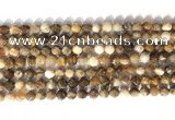 CNG9089 15.5 inches 6mm faceted nuggets coral jade gemstone beads