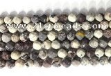 CNG9095 15.5 inches 8mm faceted nuggets purple striped jasper beads