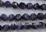 CNG928 15 inches 8mm faceted nuggets amethyst gemstone beads