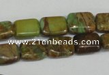 CNI39 15.5 inches 6*8mm rectangle natural imperial jasper beads