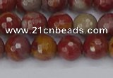 CNJ310 15.5 inches 8mm faceted round noreena jasper beads