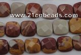 CNJ58 15.5 inches 12*12mm faceted square noreena jasper beads