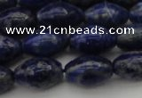 CNL1102 15.5 inches 8*12mm rice lapis lazuli gemstone beads