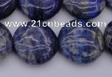 CNL1109 15.5 inches 18mm flat round lapis lazuli gemstone beads
