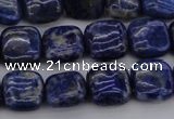 CNL1126 15.5 inches 10*10mm square lapis lazuli gemstone beads