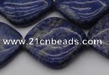 CNL1137 15.5 inches 25*25mm diamond lapis lazuli gemstone beads