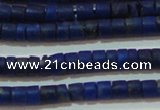 CNL1203 15.5 inches 1.5*2mm tube natural lapis lazuli beads