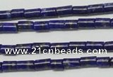 CNL1269 15.5 inches 3*6mm tube natural lapis lazuli beads