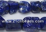CNL1275 15.5 inches 12*16mm - 15*20mm nuggets natural lapis lazuli beads