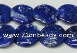 CNL1302 15.5 inches 20mm flat round natural lapis lazuli beads