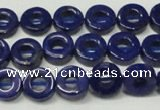 CNL1308 15.5 inches 10mm donut natural lapis lazuli beads