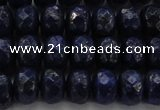 CNL1403 15.5 inches 5*8mm faceted rondelle lapis lazuli beads