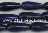 CNL1513 15.5 inches 10*30mm teardrop lapis lazuli beads wholesale