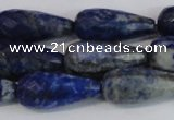 CNL1607 15.5 inches 12*25mm faceted teardrop lapis lazuli beads