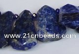 CNL1610 Top drilled 20*28mm - 25*35mm freeform lapis lazuli beads