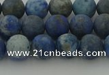 CNL1652 15.5 inches 8mm round matte lapis lazuli beads wholesale