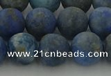 CNL1654 15.5 inches 12mm round matte lapis lazuli beads wholesale