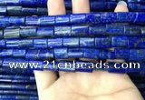 CNL1680 15.5 inches 8*12mm - 9*14mm flat tube lapis lazuli beads