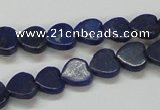 CNL243 15.5 inches 10*10mm heart natural lapis lazuli beads wholesale