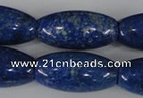 CNL446 15.5 inches 15*30mm rice natural lapis lazuli gemstone beads