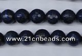 CNL603 15.5 inches 10mm faceted round natural lapis lazuli gemstone beads