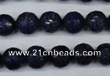 CNL604 15.5 inches 12mm faceted round natural lapis lazuli gemstone beads