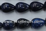 CNL618 15.5 inches 13*18mm teardrop natural lapis lazuli gemstone beads