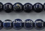 CNL636 15.5 inches 13*14mm pumpkin natural lapis lazuli beads