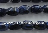 CNL640 15.5 inches 10*15mm faceted nuggets natural lapis lazuli beads