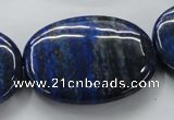 CNL665 15.5 inches 30*40mm oval natural lapis lazuli beads