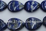 CNL745 15*20mm flat teardrop natural lapis lazuli gemstone beads