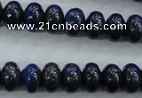 CNL864 15.5 inches 8*12mm rondelle natural lapis lazuli gemstone beads