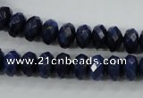 CNL873 15.5 inches 6*10mm faceted rondelle natural lapis lazuli beads