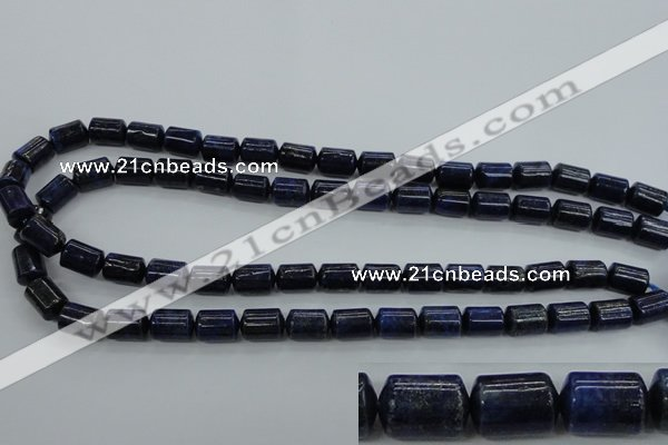 CNL883 15.5 inches 9*12mm tube natural lapis lazuli gemstone beads