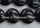 CNL928 15.5 inches 20mm flat round natural lapis lazuli gemstone beads