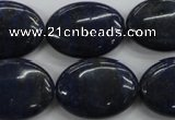 CNL945 15.5 inches 18*25mm oval natural lapis lazuli gemstone beads