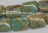 CNS148 15.5 inches 15*20mm rectangle natural serpentine jasper beads