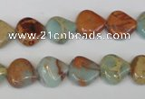 CNS186 15.5 inches 12*12mm triangle natural serpentine jasper beads