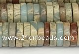 CNS320 15.5 inches 3*8mm heishi serpentine jasper beads
