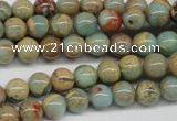 CNS62 15.5 inches 8mm round natural serpentine jasper beads