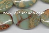 CNS96 15.5 inches 22*30mm oval natural serpentine jasper beads