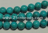 CNT147 15.5 inches 8mm round natural turquoise beads wholesale