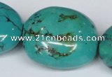 CNT16 16 inches 26-35mm nugget natural turquoise beads wholesale