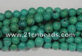 CNT205 15.5 inches 6mm round natural turquoise beads wholesale