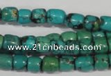 CNT212 15.5 inches 7*4mm – 7*6mm drum natural turquoise beads wholesale