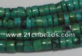 CNT219 15.5 inches 3*4mm – 4*5mm heishi natural turquoise beads